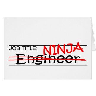 Stellenbezeichnung Ninja - Ingenieur Karte