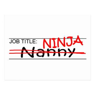 Stellenbezeichnung Ninja - Kindermädchen Postkarte