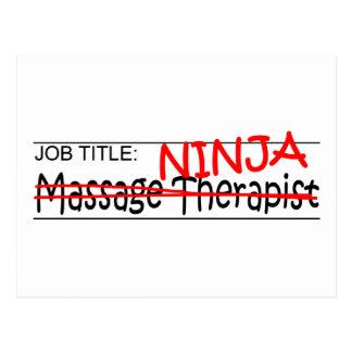 Stellenbezeichnung Ninja - Massage-Therapeut Postkarte