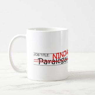 Stellenbezeichnung Ninja - Rechtsassistent Kaffeetasse