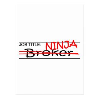 Stellenbezeichnung Ninja Vermittler Postkarte