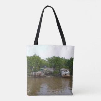 Stelzehäuser auf dem Amazonas Tasche