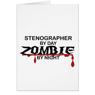 Stenograf-Zombie Grußkarte