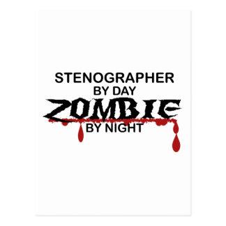 Stenograf-Zombie Postkarte