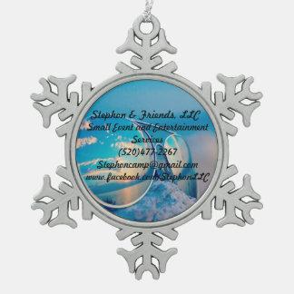 Stephon u. Freund-Zinn-Schneeflocke-Verzierung Schneeflocken Zinn-Ornament