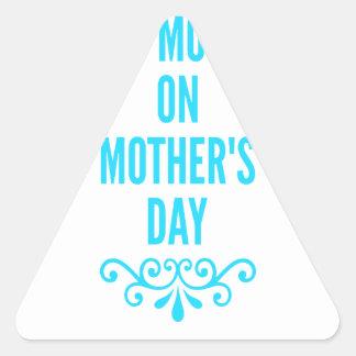 #stepmomlove Muttertag Dreieckiger Aufkleber