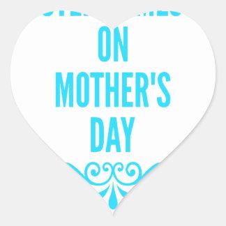 #stepmomlove Muttertag Herz-Aufkleber