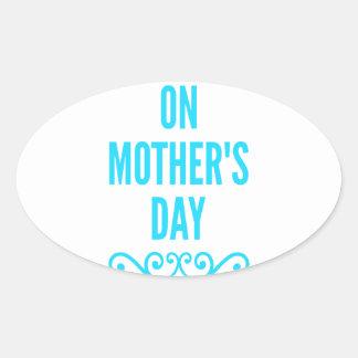 #stepmomlove Muttertag Ovaler Aufkleber