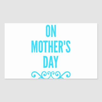 #stepmomlove Muttertag Rechteckiger Aufkleber