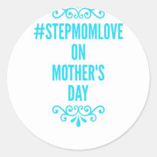 #stepmomlove Muttertag Runder Aufkleber