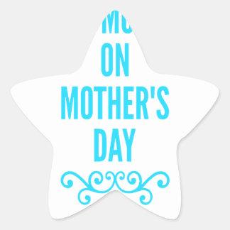 #stepmomlove Muttertag Stern-Aufkleber