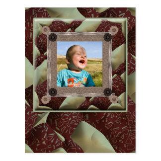 Steppdecken-Enthusiast-Foto-Schablone Postkarte