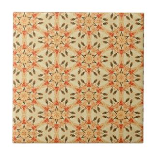 Steppdecken-Muster-Blumenwiederholung des Keramikfliese