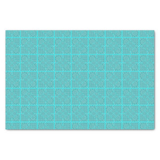 Steppdecken-Quadrat-Entwurf in den Aqua-Tönen Seidenpapier