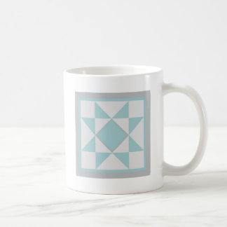 Steppdecken-Tasse - Sägezahn-Stern (blau/Grau) Kaffeetasse