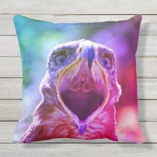 Steppe-Eagle-Kopf 001 2.1.F Kissen Für Draußen