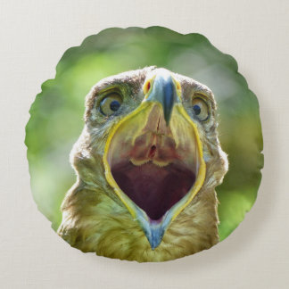 Steppe-Eagle-Kopf 001 2,1 Rundes Kissen
