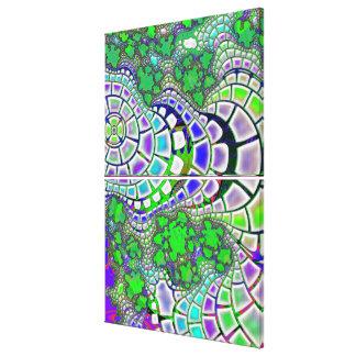 Steppin psychedelisches Stein3D abstrakt Leinwanddruck