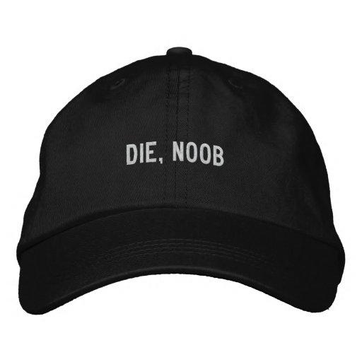 , sterben n00b bestickte kappe