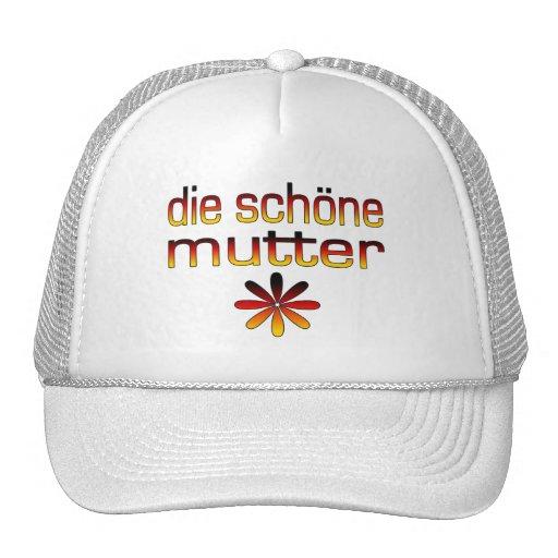 Sterben Schöne murmeln Deutschland-Flaggen-Farben Trucker Mützen