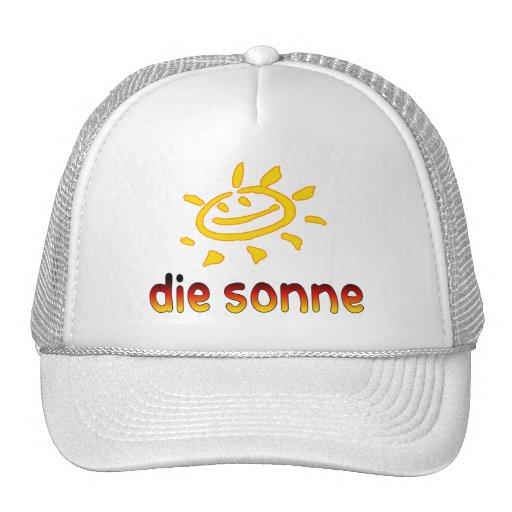 Sterben sonne The Sun in den deutschen Sommer-Feri Trucker Kappe