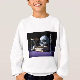 STERBLICHKEIT! (Schädel, Band, Kerze u. Hourglass) Sweatshirt