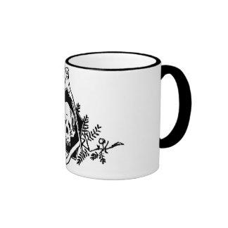 Sterblichkeits-Quadrat und Kompassse Kaffee Tasse