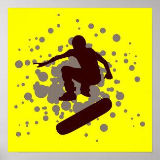 Stereoanlage Skateboarding: Blasen: Poster