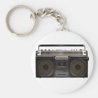 Stereoband des retro standard runder schlüsselanhänger