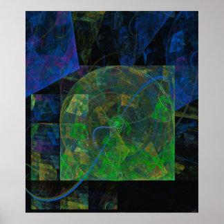 Stereopunkflammen-Fraktal Poster