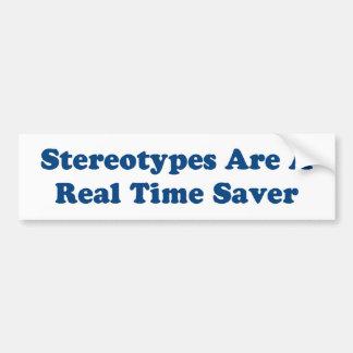 Stereotypen sind ein Realzeitretter Autoaufkleber