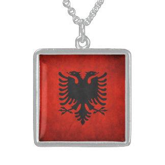Sterlingsilber-albanische Flaggen-Halskette