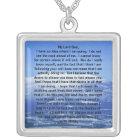 Sterlingsilber-Gebet von Thomas Merton-Halskette Versilberte Kette