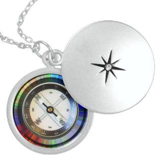Sterlingsilber Locket-Imitat-Kompass Medaillon