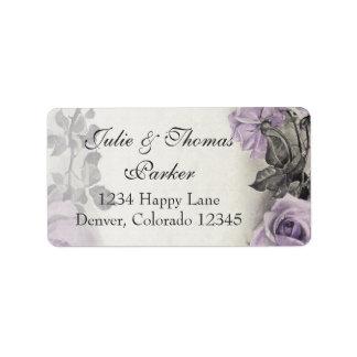 Sterlingsilber-Rosen-Hochzeits-Adressen-Etiketten Adressetiketten