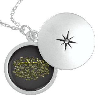 SterlingsilberLocket: 99 Namen von Allah Medaillon