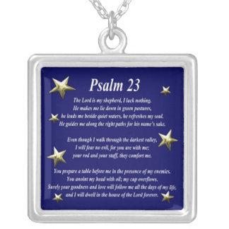 Stern-auserlesener Psalm 23 Halskette Mit Quadratischem Anhänger
