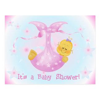 Stern BabyShower lädt ein Postkarte
