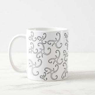 Stern-Band-Konturen Kaffeetasse