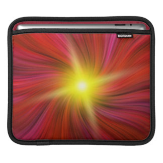 Stern barst in roter wirbelnder Turbulenz iPad iPad Sleeve