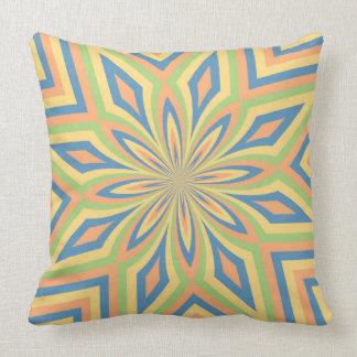 Stern-Blumen-Streifen mit Sun durchnäßten Blau Kissen