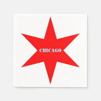 Stern Chicago-Flaggen-6-Pointed mit blauem Papierserviette