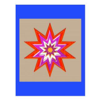 STERN Dekorationen: BLAUER Hintergrund LOWPRICES Postkarte