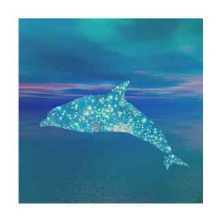 Stern-Delphin Holzwanddeko