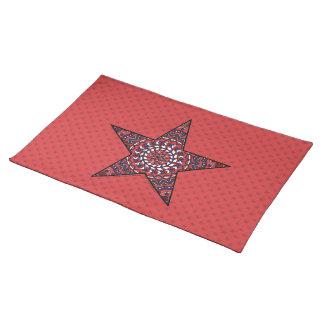 Stern der Unabhängigkeits-Platz-Matte Tischset