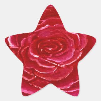 Stern des Rosen-Aufklebers Stern-Aufkleber