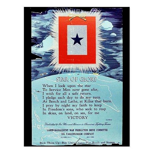 Stern des Ruhm-Sieges Postkarten