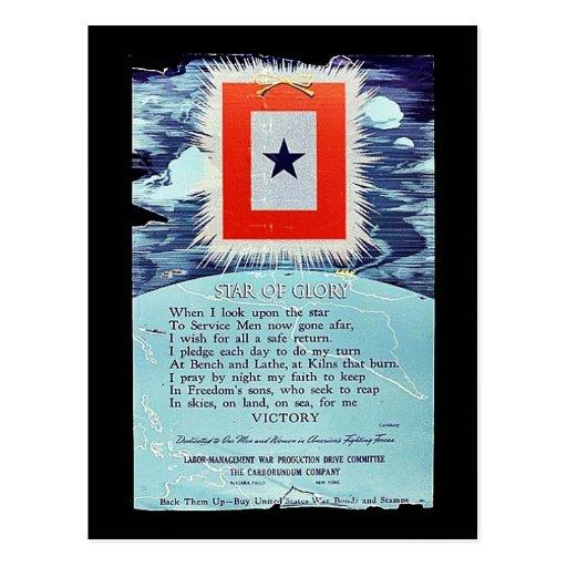 Stern des Ruhm-Sieges Postkarte