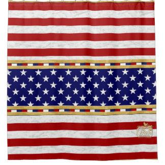 Stern-Duschvorhang Amerikas roter gestreifter Duschvorhang