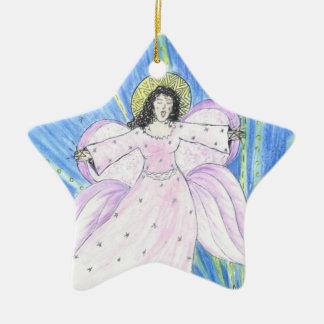Stern-Engel Keramik Ornament